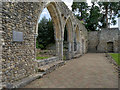 SU3802 : Chapter House Arches, Beaulieu Abbey by David Dixon