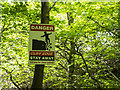 J4576 : Warning sign, Cairn Wood by Rossographer
