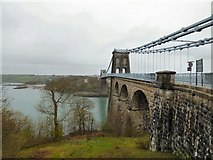 SH5571 : Menai Suspension Bridge by Gerald England