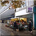 ST3188 : Fruit and vegetable stall, Commercial Street, Newport by Robin Drayton