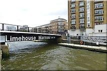TQ3680 : Limehouse Marina entrance by DS Pugh