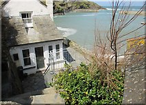 SW9980 : Harbour side cottage, Roscarrock Hill, Port Isaac by Derek Voller