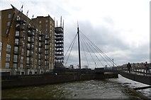 TQ3680 : Bridge over the wharf by DS Pugh