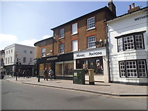 SU7682 : Shops on Hart Street, Henley by David Howard