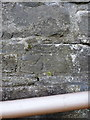SH7400 : OS benchmark and bolt - Machynlleth, St Peter's Church by Richard Law