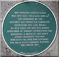 SZ0891 : Green plaque on a Bournemouth corner by Jaggery