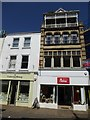 SS5533 : A mix of architectural styles, 13, High Street, Barnstaple by David Smith