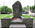 SN7810 : Dedication on Ystradgynlais War Memorial by Jaggery