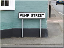 TM0954 : Pump Street sign by Adrian Cable