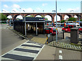 SJ8990 : Stockport Bus Station and Viaduct by David Dixon