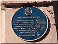 SE3033 : Former Assembly Rooms, Crown Street, Leeds: plaque by Stephen Craven