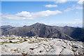 NN0843 : Rocks at summit of Beinn Trilleachan by Trevor Littlewood