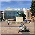 SP3378 : Seating and paving in pedestrianised Broadgate, Coventry by Robin Stott