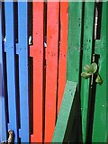 NS4864 : Painted fence, Little Learner's Nursery by Richard Webb