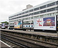 SU4112 : JCDecaux advertising boards on Southampton Central railway station by Jaggery