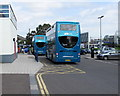 SU4112 : Unilink buses outside Southampton Central railway station by Jaggery