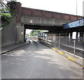 SU4112 : Warning sign on a low road bridge near Southampton Central railway station by Jaggery