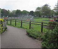 ST3049 : Westfield Road playground, Burnham-on-Sea by Jaggery
