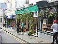 SW6527 : Decorated shop fronts, Meneage Street, Helston by Derek Voller