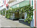 SW6527 : Decorated shop fronts, Coinagehall Street, Helston by Derek Voller