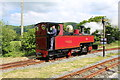 SH5739 : Russell running around the train at Pen-Y-Mount station by Richard Hoare