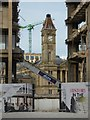 SP0686 : Clock tower viewed through a demolition site by Philip Halling