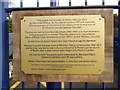 SP4314 : Plaque at Hanborough Station by David Hillas