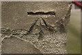 NZ4920 : Cut Bench Mark, All Saints' Church, Middlesbrough by Mark Anderson