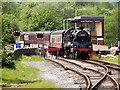 SD8022 : Black Five Passing Rawtenstall West Signal Box by David Dixon