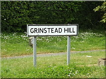 TM0954 : Grinstead Hill sign by Adrian Cable