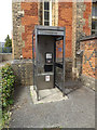 TM0954 : Telephone Box at Needham Market Railway Station by Adrian Cable