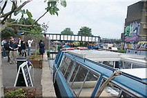 TQ3784 : View of the London Overground bridge over the River Lea from the Lea towpath by Robert Lamb