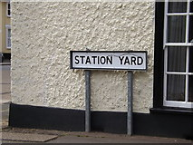 TM0954 : Station Yard sign by Adrian Cable