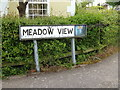 TM0855 : Meadow View sign by Adrian Cable