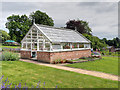 SJ8383 : Greenhouse at Quarry Bank Mill Upper Garden by David Dixon