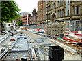 SJ8398 : Metrolink Second City Crossing Work, Princess Street/Albert Square (June 2016) by David Dixon
