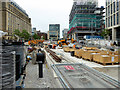 SJ8397 : Construction of New Tram Stop at St Peter's Square (June 2016) by David Dixon