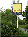 TM3959 : Estate Agent Sale Board off Sternfield Road by Adrian Cable