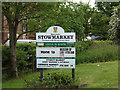 TM0559 : Stowmarket Town sign by Adrian Cable