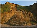 TG1443 : Landslide near Sheringham by Hugh Venables