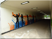 NT0987 : Underpass artwork by Thomas Nugent