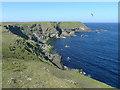 HT9737 : Coastllne of da Sooth Wick, Foula by Julian Paren