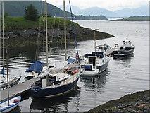 NN0858 : Boats at Ballachulish by M J Richardson
