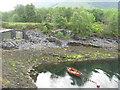 NN0858 : Moored dinghy at Ballachulish by M J Richardson