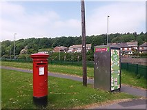 SE2334 : Postbox and phone box, Swinnow Road, Pudsey by Stephen Craven