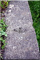 SE1294 : Benchmark on concrete wall beside A6108 by Roger Templeman