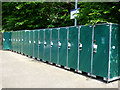 NT0987 : Cycle lockers at Dunfermline Town railway station by Thomas Nugent