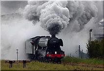 TA3009 : The Flying Scotsman leaving Cleethorpes railway station #2 by Steve  Fareham