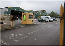 SO9322 : Entrance to Travis Perkins, Cheltenham by Jaggery