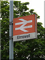 TL9963 : Elmswell Railway Station sign by Adrian Cable